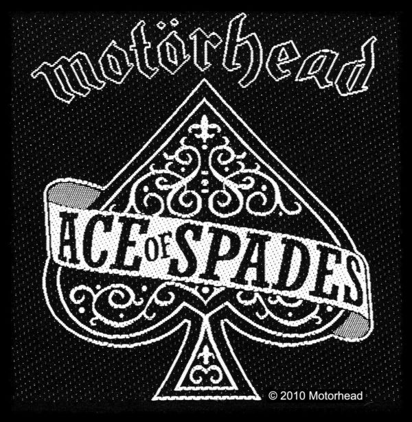 Motorhead Woven Patch Ace Of Spades.