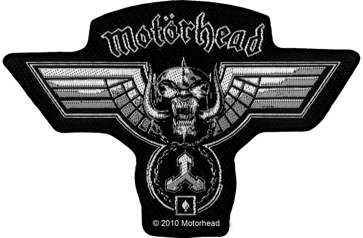 Motorhead Woven Patch Hammered Cut Out.