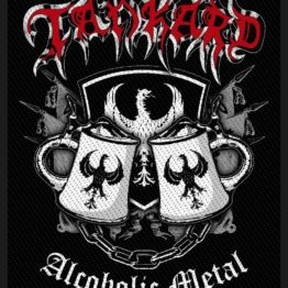 Tankard Woven Patch Alcoholic Metal.