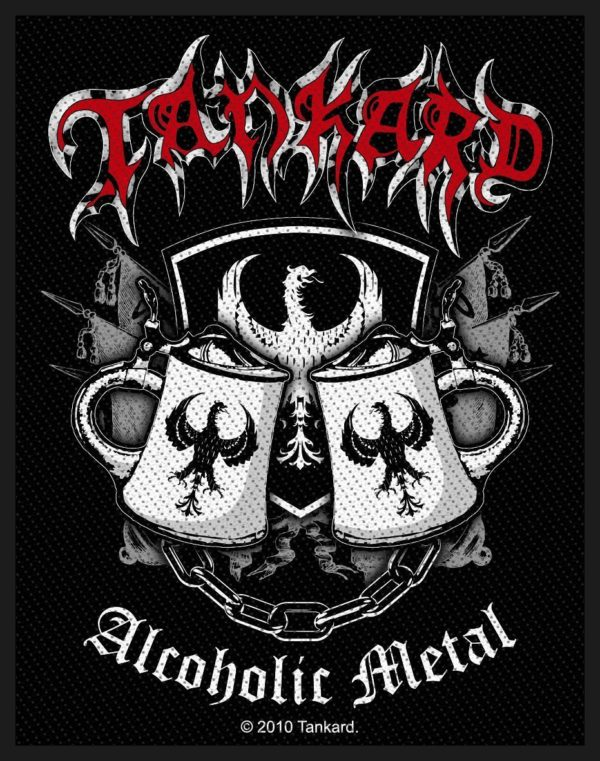 Tankard Woven Patch Alcoholic Metal.