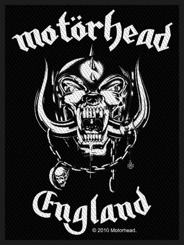 Motorhead Woven Patch England.