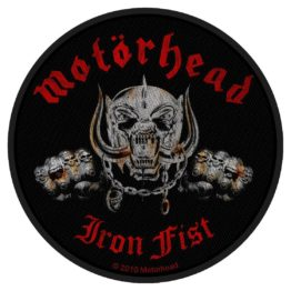 Motorhead Woven Patch Iron Fist / Skull.