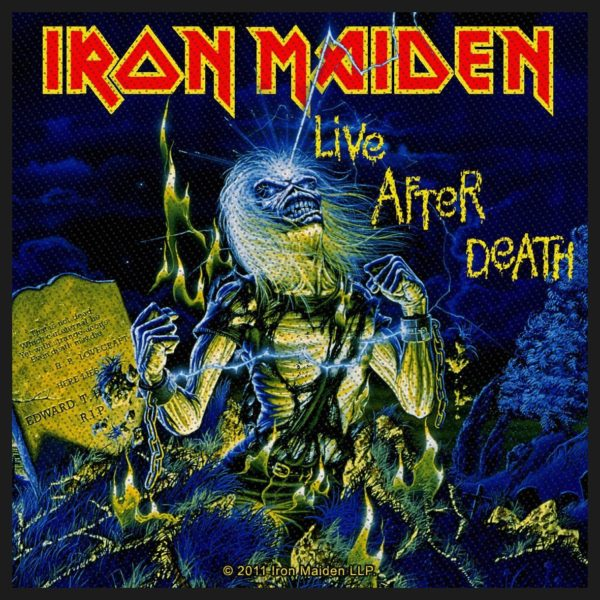 Iron Maiden Woven Patch Live After Death