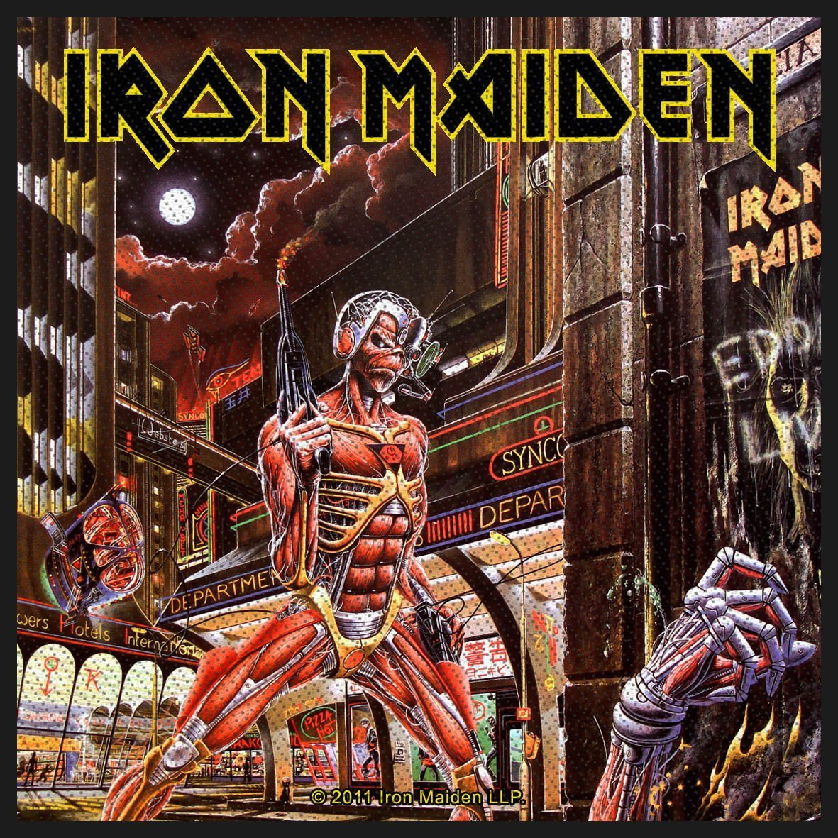 Iron Maiden Woven Patch Somewhere In Time