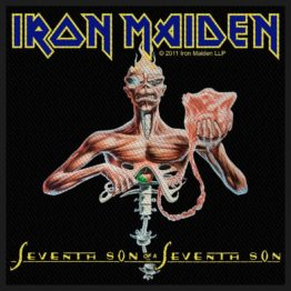 Iron Maiden Woven Patch Seventh Son