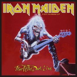 Iron Maiden Woven Patch Fear Of The Dark Live