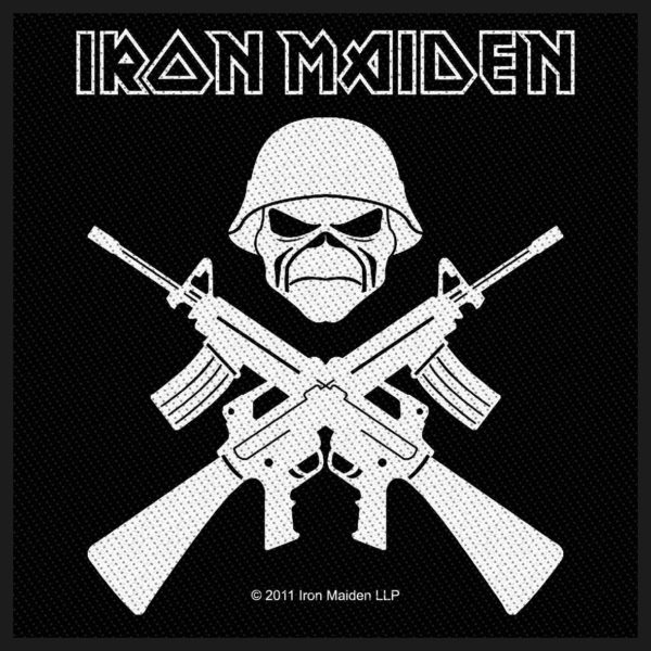 Iron Maiden Woven Patch A Matter Of Life And Death