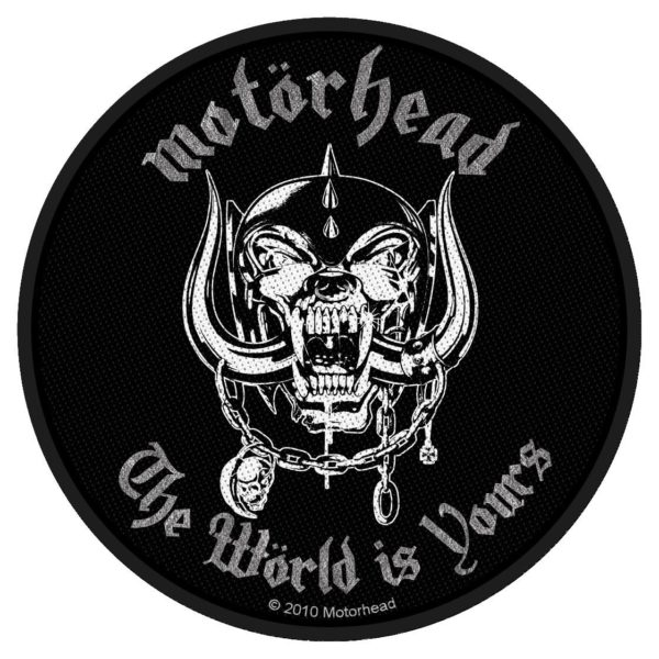Motorhead Woven Patch The World Is Yours