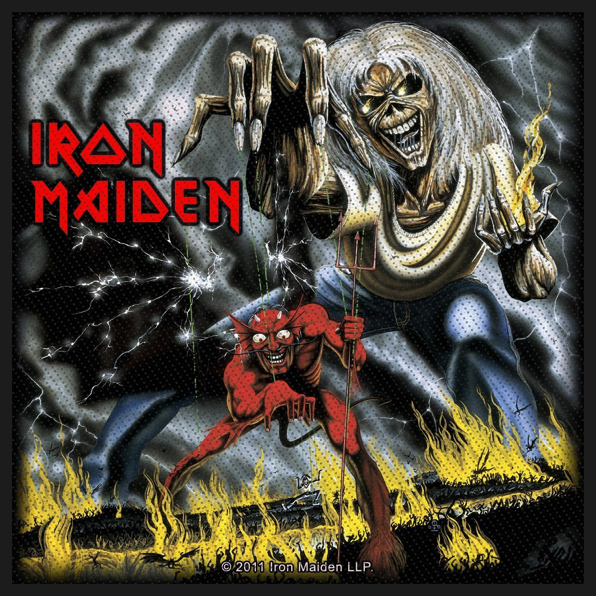 Iron Maiden Woven Patch Number Of The Beast