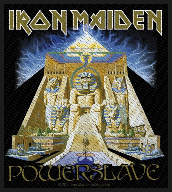 Iron Maiden Woven Patch Powerslave.