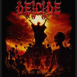 Deicide Woven Patch To Hell With God