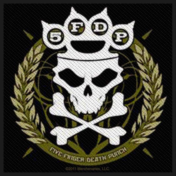Five Finger Death Punch Woven Patch Knuckle Crown