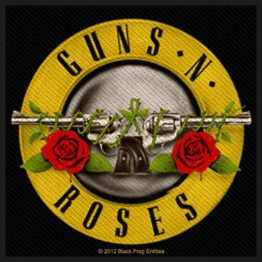 Guns N Roses Woven Patch Bullet Logo