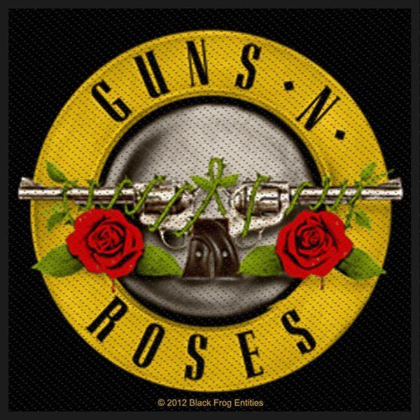 Guns N Roses Woven Patch Bullet Logo
