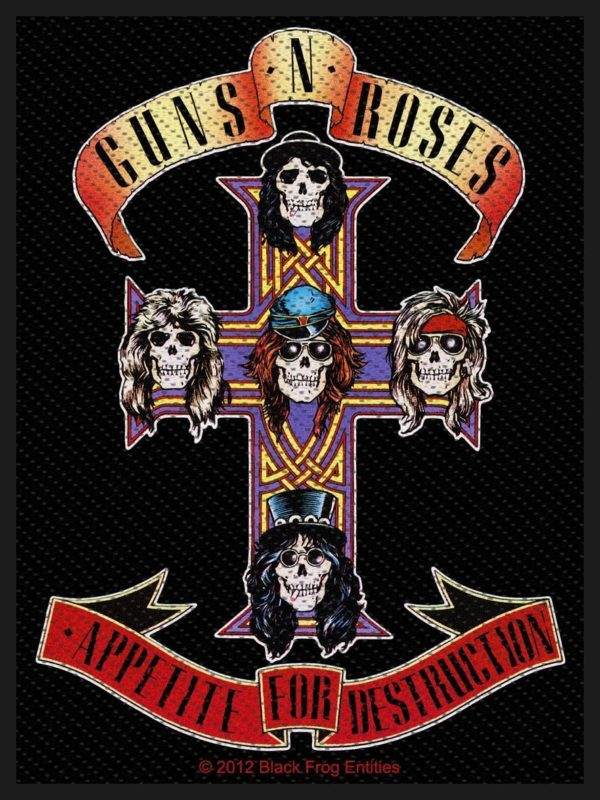 Guns N Roses Woven Patch Appetite For Destruction