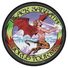 Black Sabbath Woven Patch World Tour '78