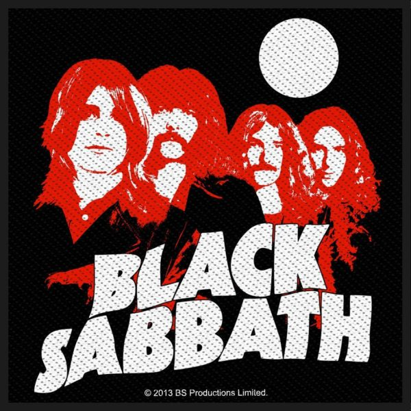 Black Sabbath Woven Patch Red Portraits