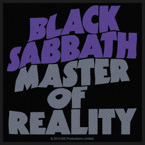 Black Sabbath Woven Patch Master Of Reality
