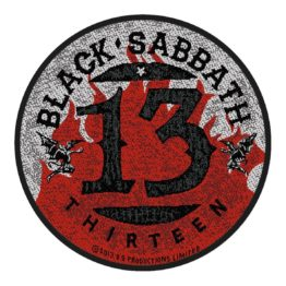 Black Sabbath Woven Patch 13 / Flames Circular
