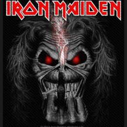 Iron Maiden Woven Patch Eddie Candle Finger