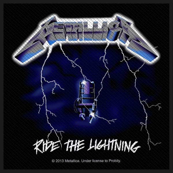 Metallica Woven Patch Ride The Lightning
