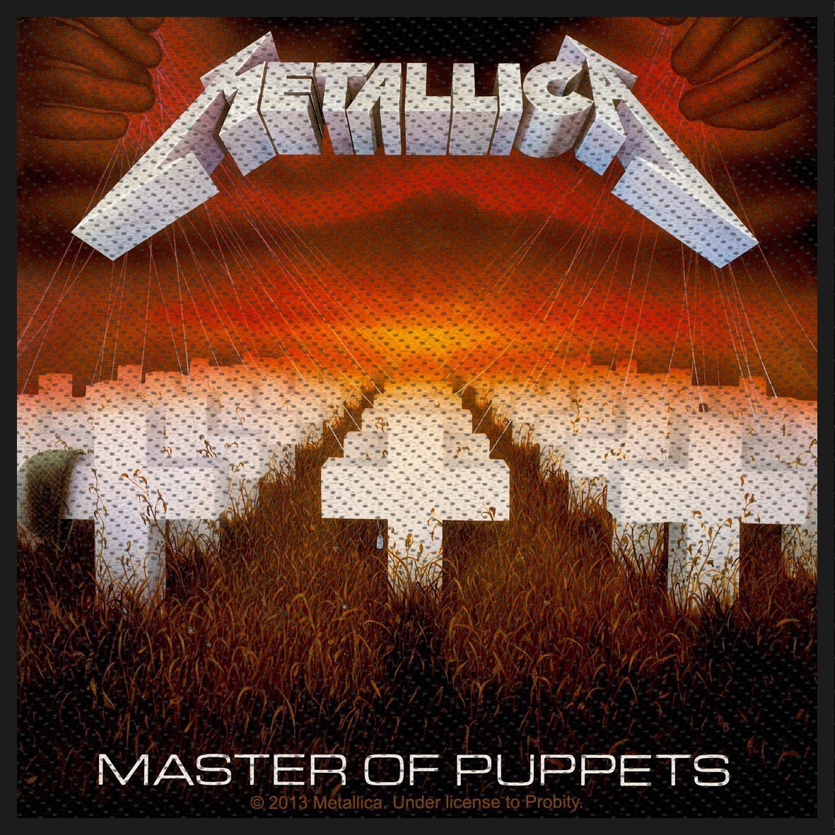 Metallica Woven Patch Master Of Puppets
