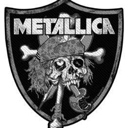 Metallica Woven Patch Raiders Skull
