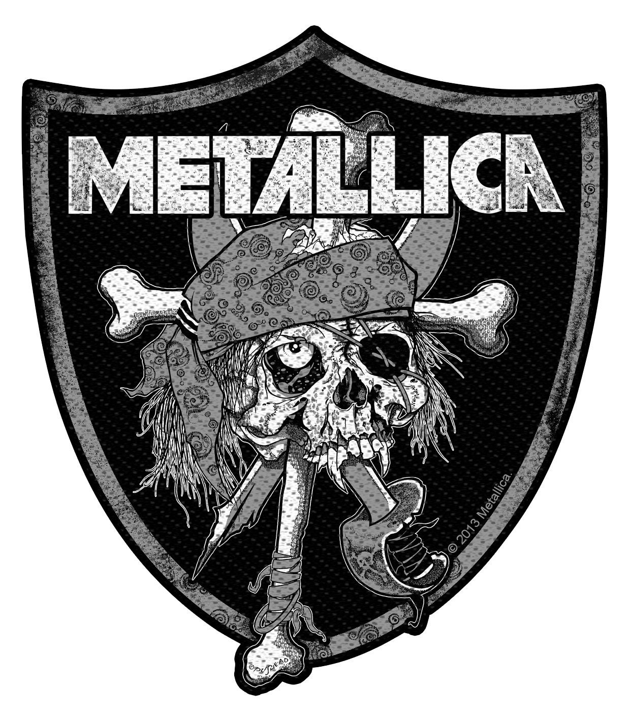 Metallica Woven Patch Raiders Skull