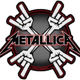 Metallica Woven Patch Metal Horns