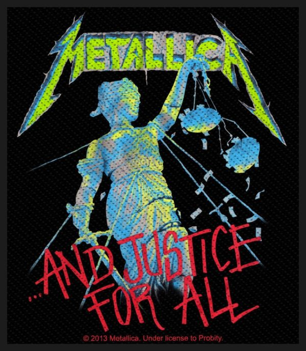 Metallica Woven Patch And Justice For All