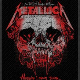 Metallica Woven Patch Wherever I May Roam