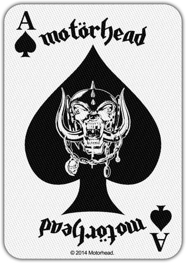 Motorhead Woven Patch Ace Of Spades Card