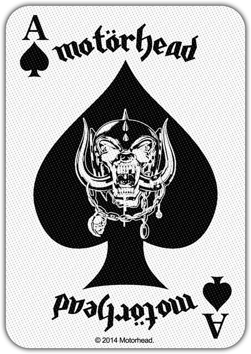 Motorhead Woven Patch Ace Of Spades Card