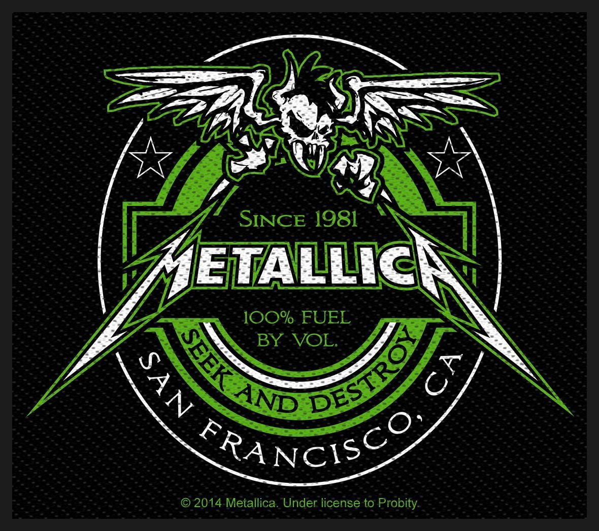 Metallica Woven Patch Beer Label