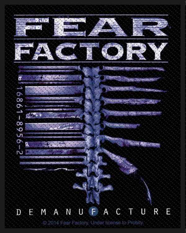 Fear Factory Woven Patch Demanufacture