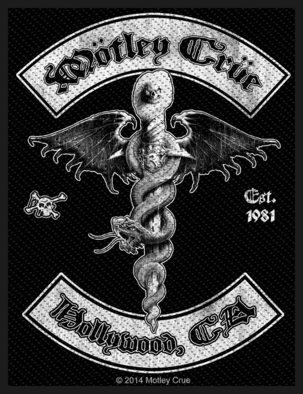 Motley Crue Woven Patch Hollywood