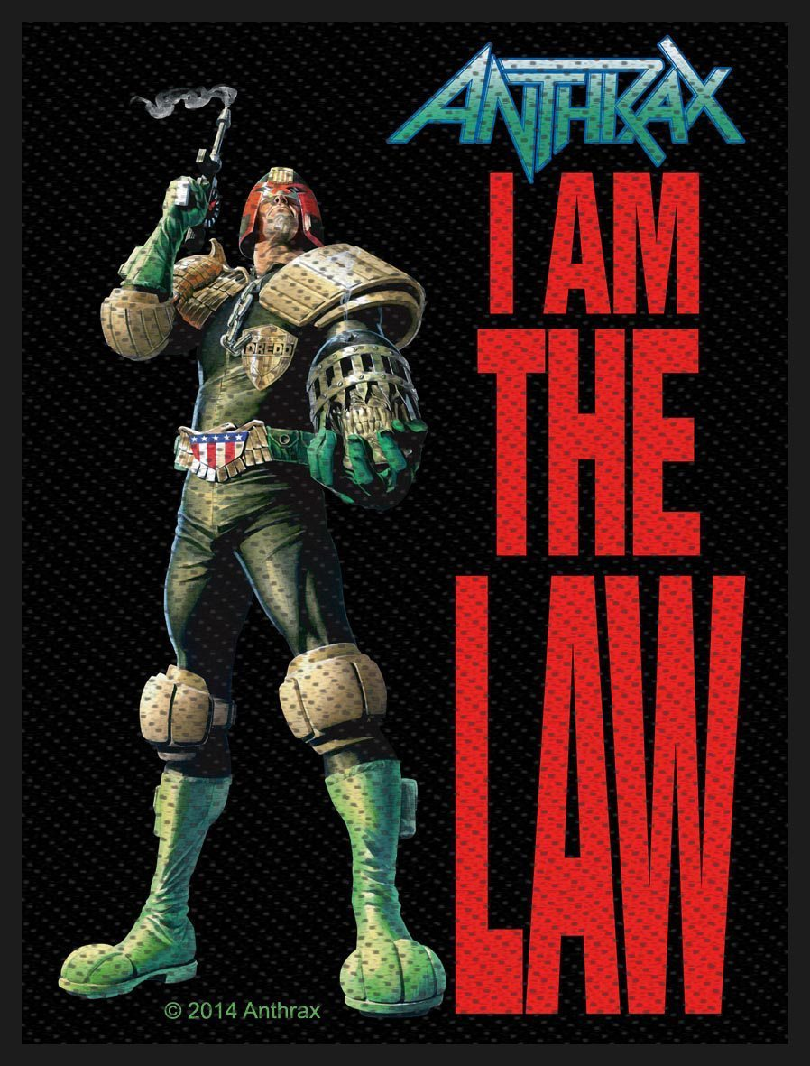 Antrax Woven Patch I Am The Law