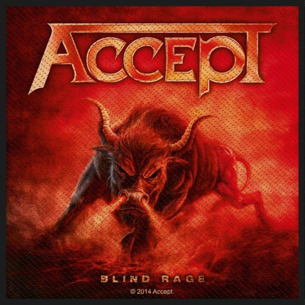 Accept Woven Patch Blind Rage