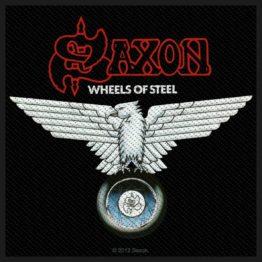 Saxon Woven Patch Wheels Of Steel