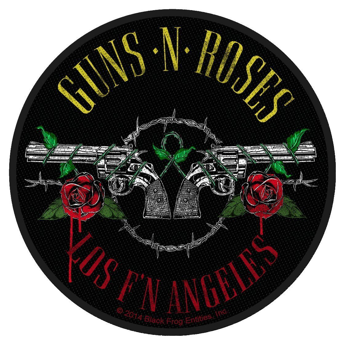 Guns N Roses Woven Patch Los F'N Angeles