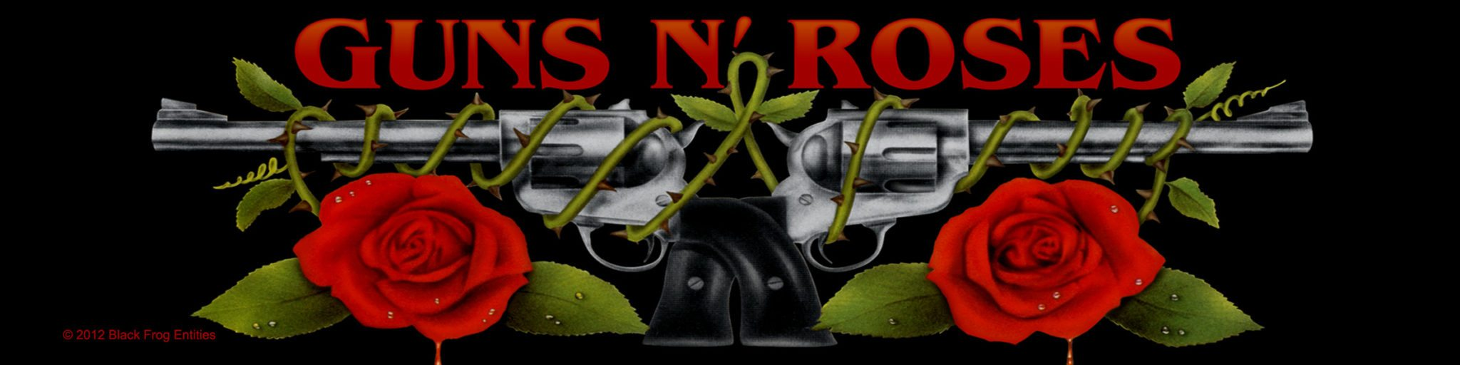 Guns N Roses Woven Superstrip Logo/Roses