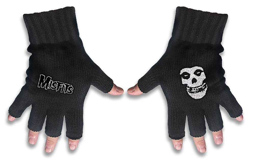 Misfits FIngerless Gloves Logo & Fiend