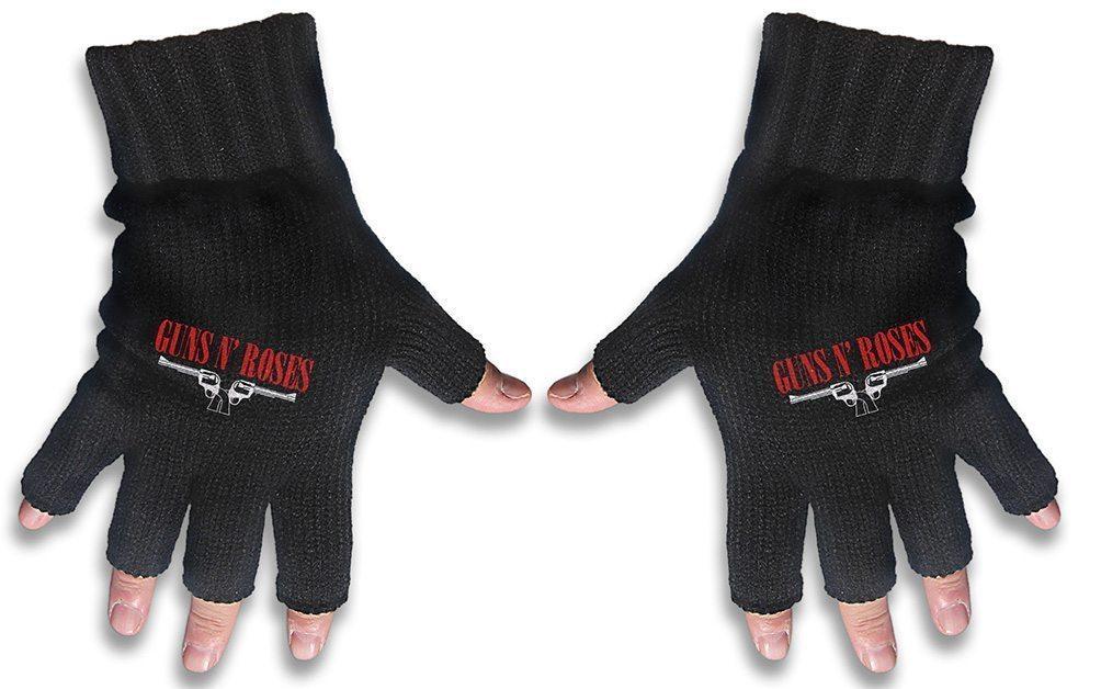 Guns N Roses Embroidered Gloves Logo & Pistols