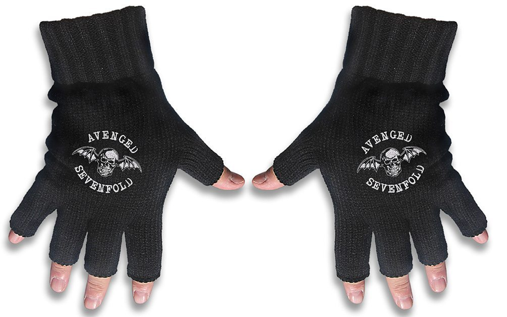 Avenged Sevenfold Embroidered Gloves Death Bat