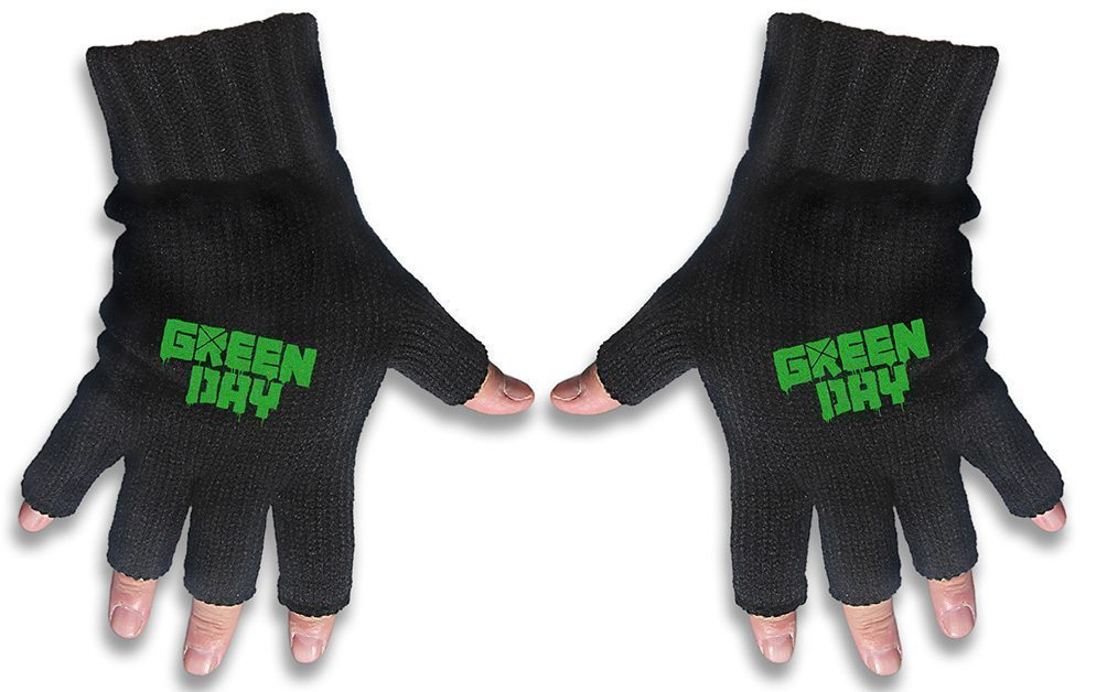 Green Day Embroidered Gloves Logo