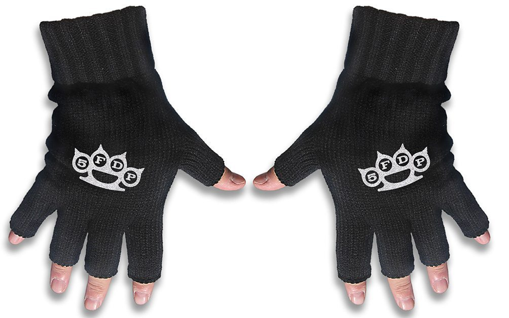 Five Finger Death Punch Embroidered Gloves 5FDP