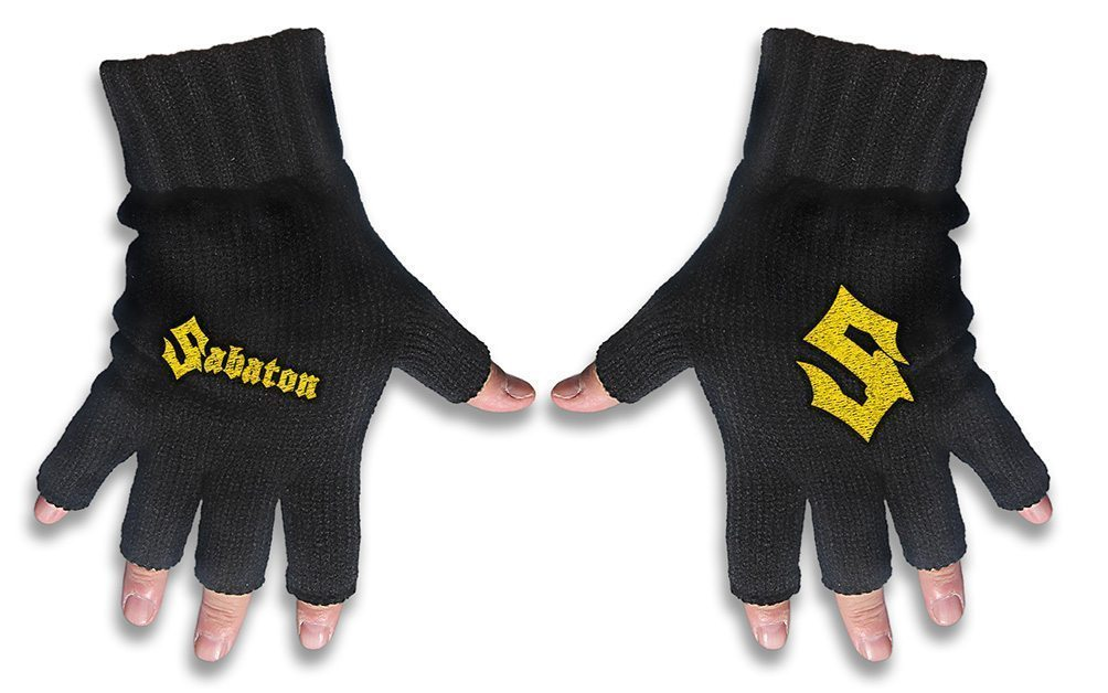 Sabaton Embroidered Gloves Logo