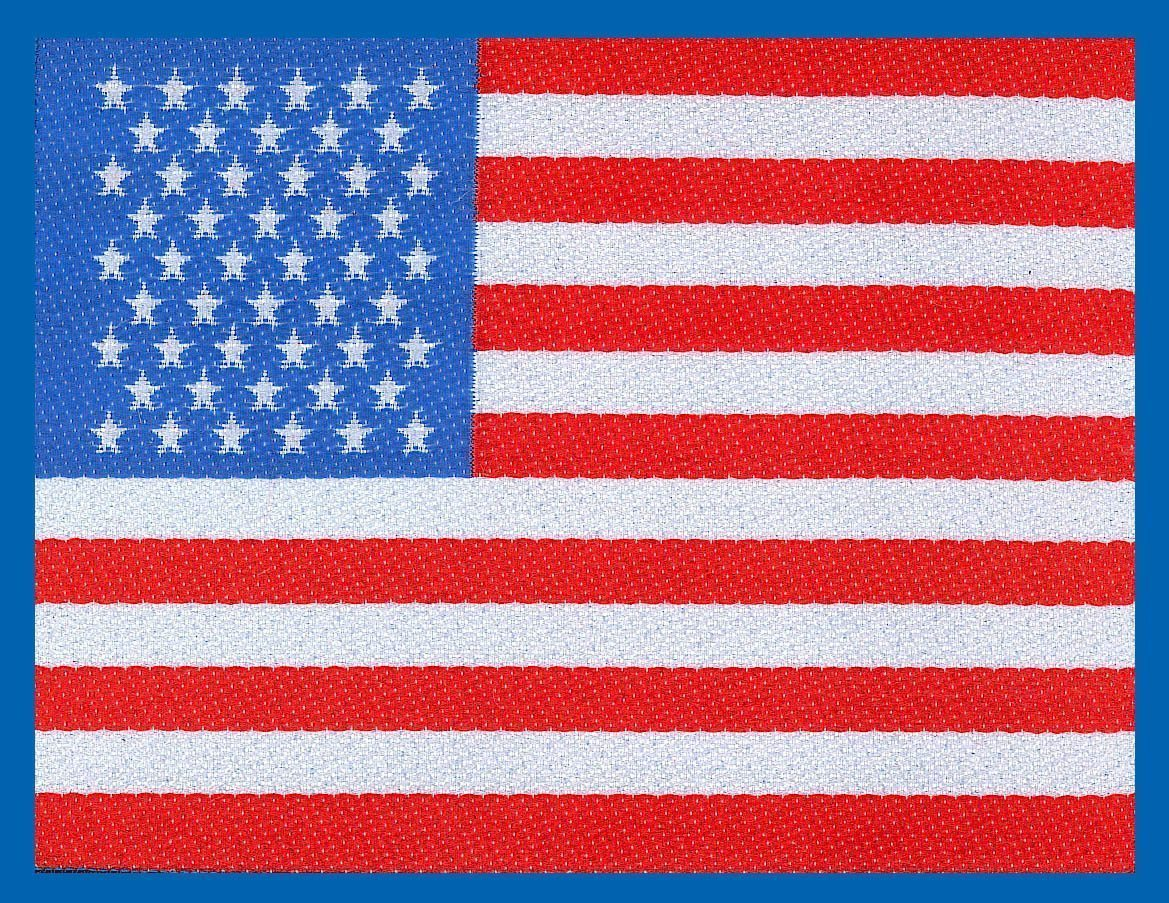 Stars & Stripes Woven Patch.