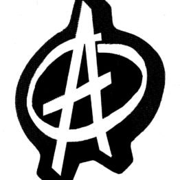Anarchy Symbol Woven Patch.