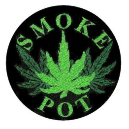 Smoke Pot Woven Patch.